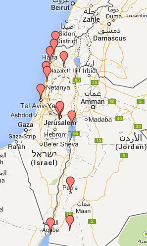 Preparativos para viajar a Israel jordania y Palestina ruta