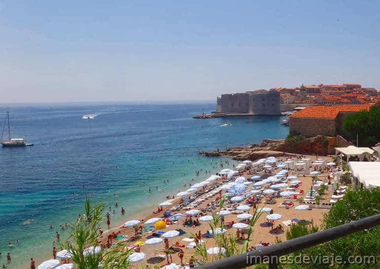 Que ver en Dubrovnik en un día o dos días Playa Gradska Plaza