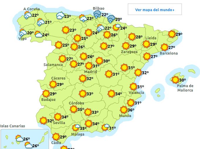 Diferencias entre ir a la playa en el norte o en el sur de Espaa