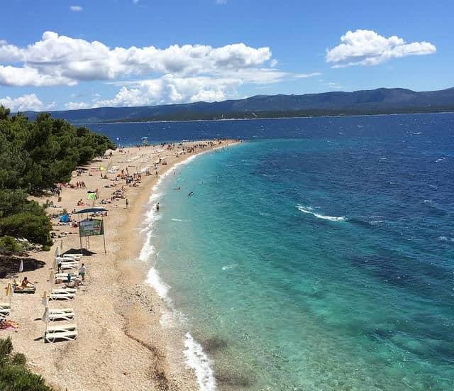 que ver en la isla de brac Playa Zlatni Rat2