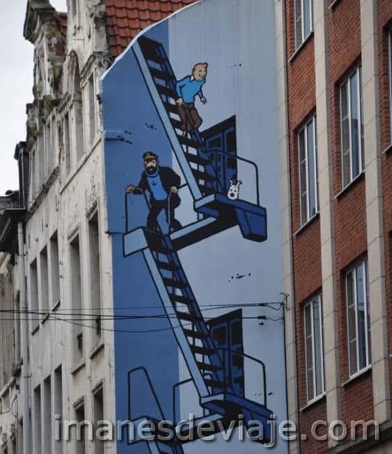 cosas que ver y hacer en Bruselas en un día_arte del cómic