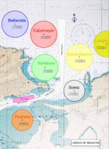 Mundial de Vela Santander 2014 Mapa regatas