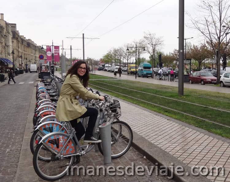 Burdeos en bici
