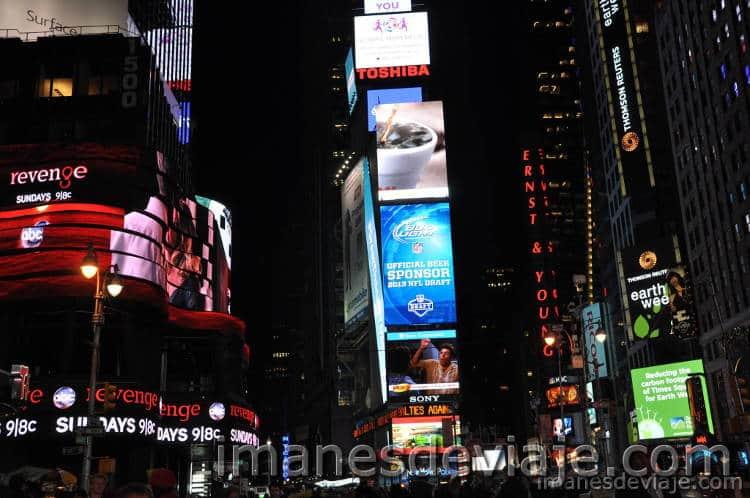 cosas que ver y hacer en Nueva York gratis Times Square