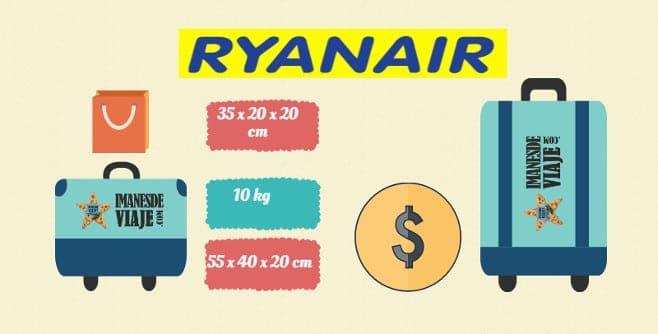 tamaño de maletas permitido según la compañía aérea