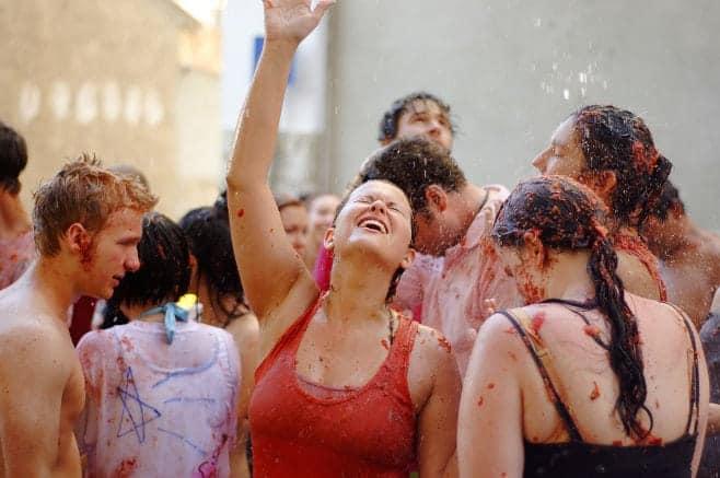 mejor fiesta de España en verano Tomatina Buñol