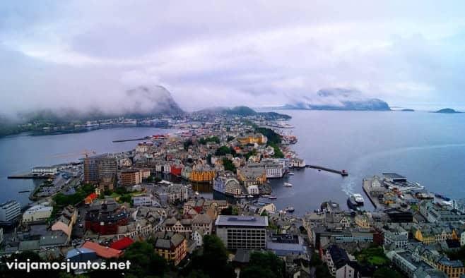 mejores vistas desde arriba Alesund