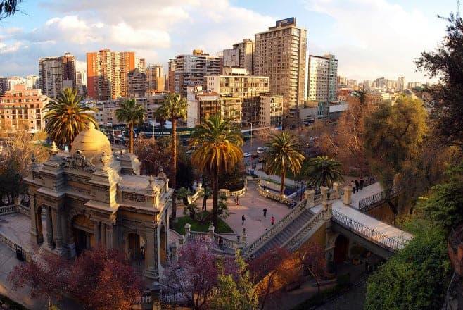 mejores vistas desde arriba Santiago de Chile