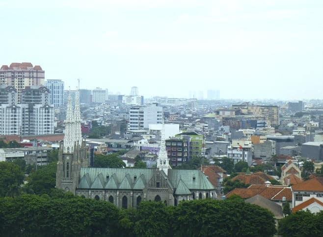 mejores vistas desde arriba Yakarta