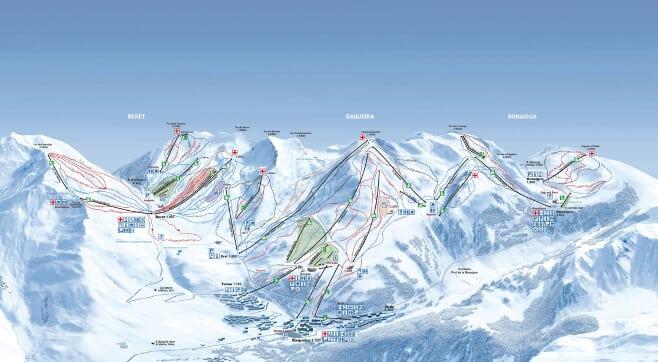 mejores pistas de esqui en España y Andorra Baqueira 2