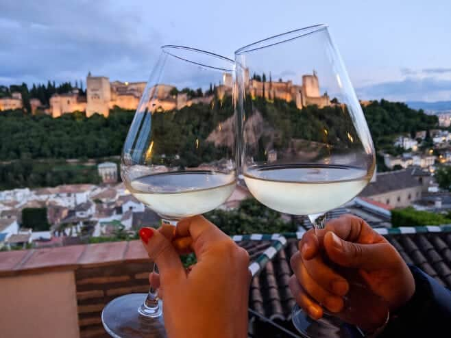 restaurantes con vistas a la alhambra granada