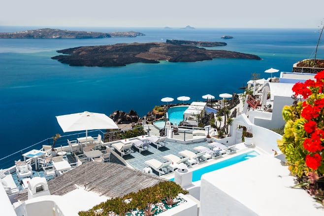 mejores hoteles de santorini