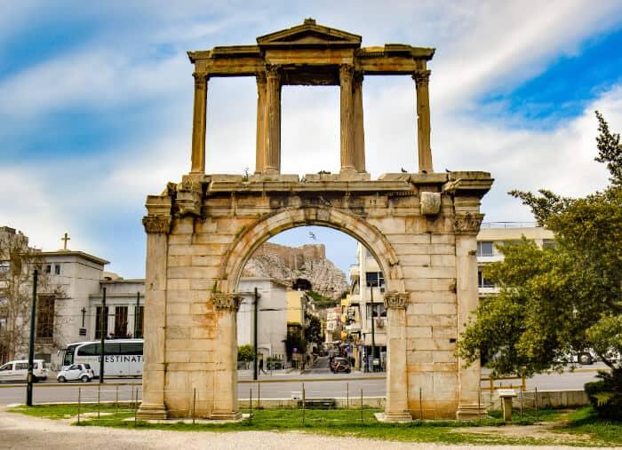 Que ver en Atenas: Arco de Adriano
