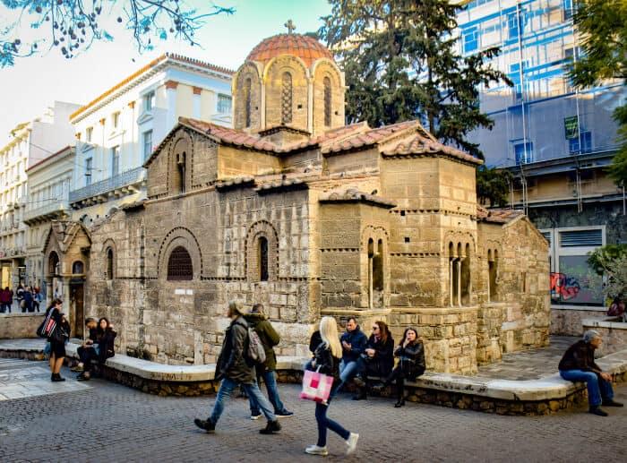 Que ver en Atenas: Iglesia en la calle Ermou