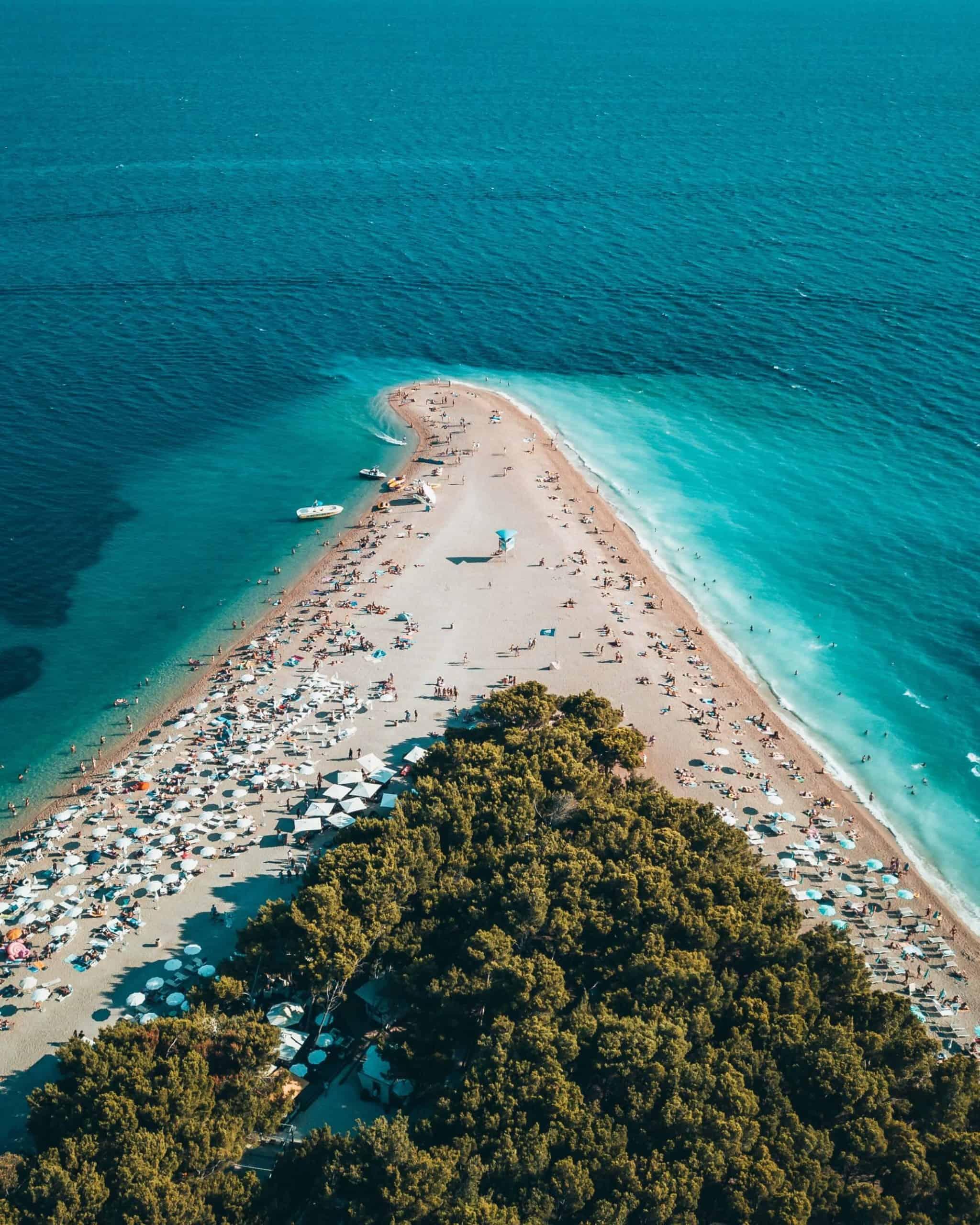 mejores playas de Croacia Zlatni Rat