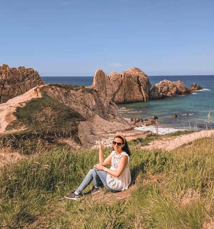 playa de la arnia imanes de viaje