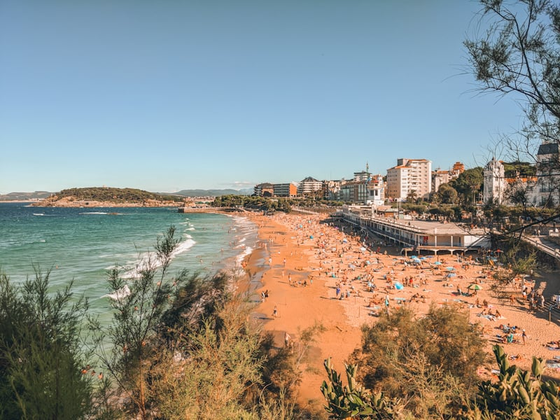 mejores playas de santander primera del sardinero